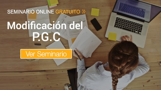 Seminario Modificación del Plan General Contable.